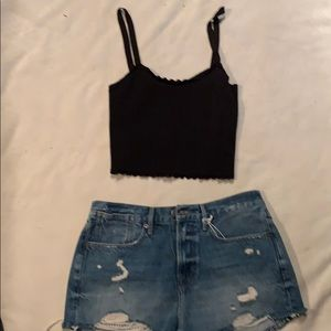 FRAME JEAN SHORT New !!! with CROP TOP